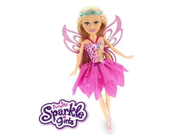 Boneca Sparkle GIRLZ Fada no Cone Cabelo Loiro Escuro DTC 4209