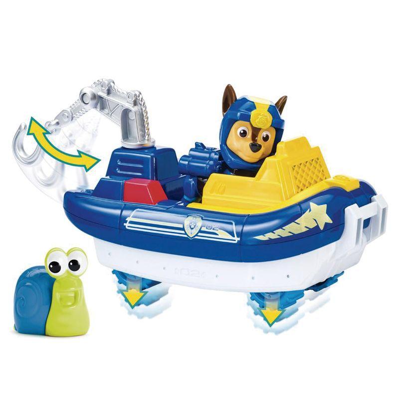 Boneco Chase's com Veículo Patrulha Canina Sea Patrol Vehicle 1351 Sunny