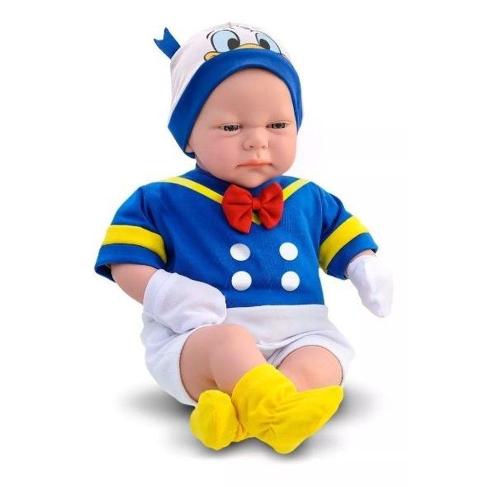 Boneco Classic Dolls Recém Nascido Pato Donald 5163 Roma