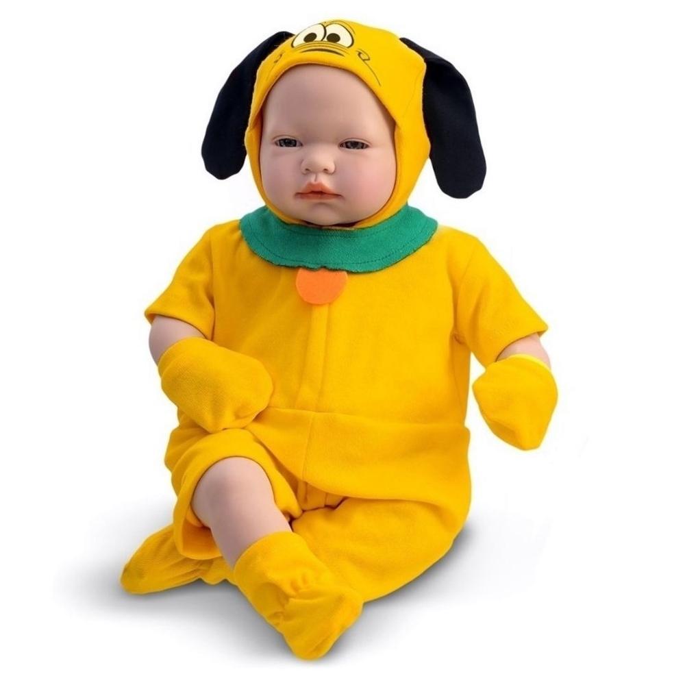Boneco Classic Recém Nascido Dolls Pluto 5166 Roma