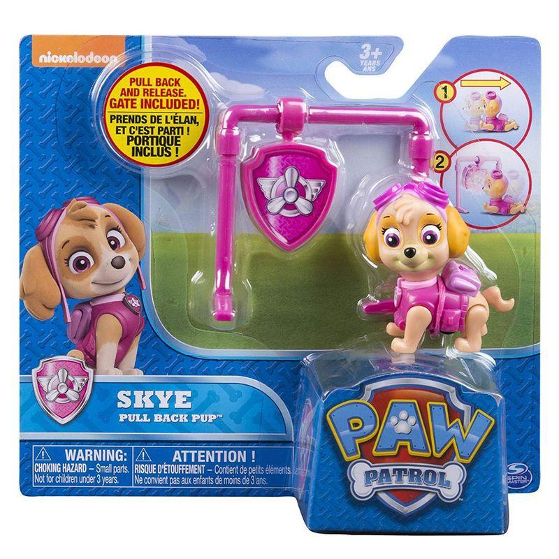 Boneco com Distintivo Patrulha Canina Skye Pup Back 1301 Sunny