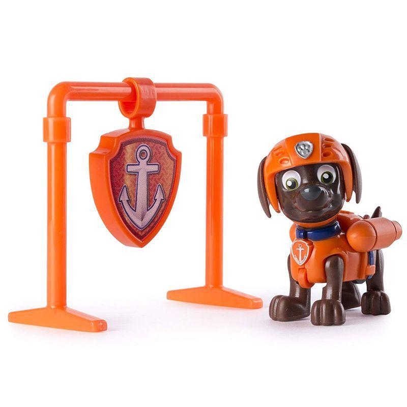 Boneco com Distintivo Patrulha Canina Zuma Pup Back 1301 Sunny