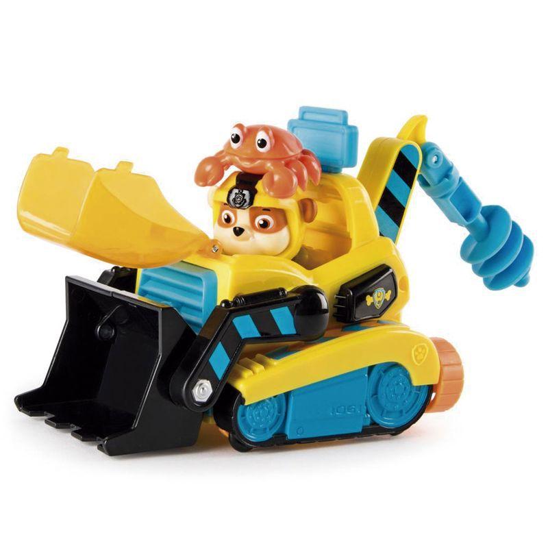 Boneco Rubble com Veículo Patrulha Canina Sea Patrol Vehicle 1351 Sunny