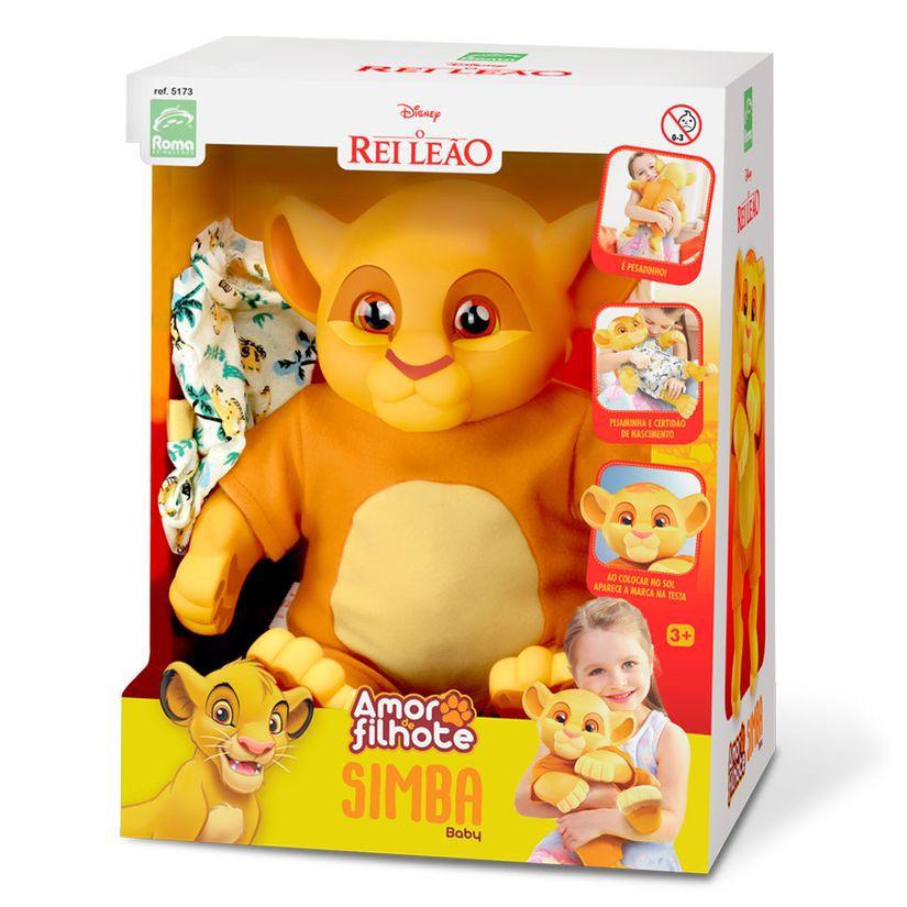 Boneco Simba Baby Rei Leão Amor de Filhote 5173 Roma