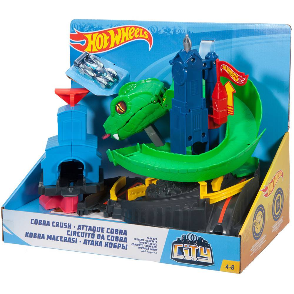 Brinquedo Hot Wheels Conjunto Ataque de Cobra City FNB20