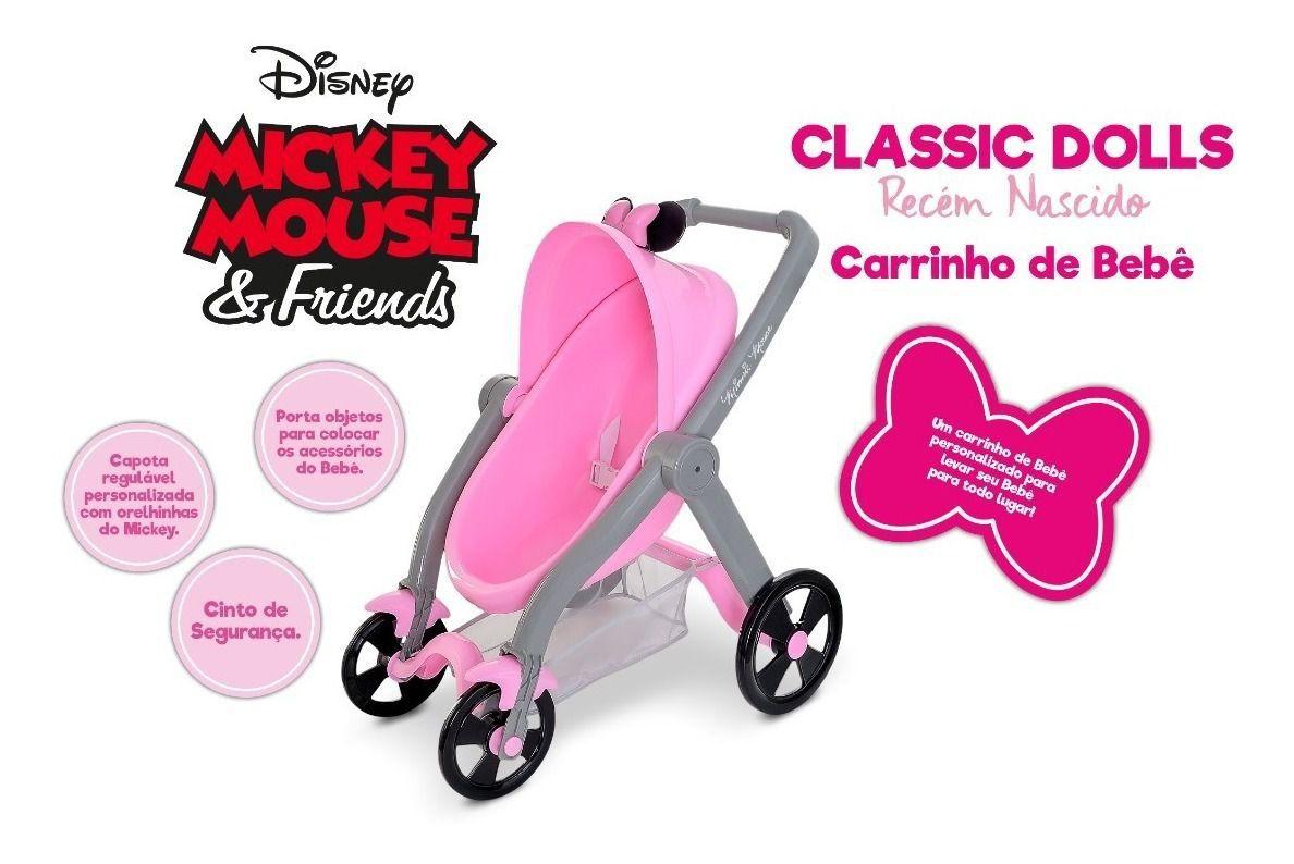 Carrinho para Boneca Classic DOLLS Minnie Mouse 5168 Roma