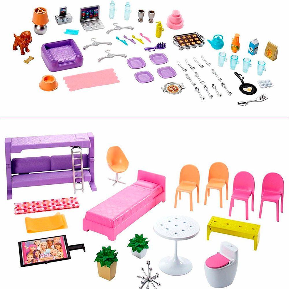Casa da Barbie dos Sonhos 76 Cm com 3 Andares com Escorregador FHY73 Mattel