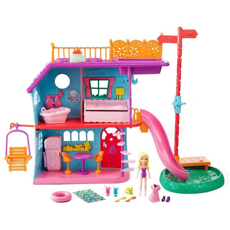 Casa de Ferias da Polly Pocket FCH21 Mattel