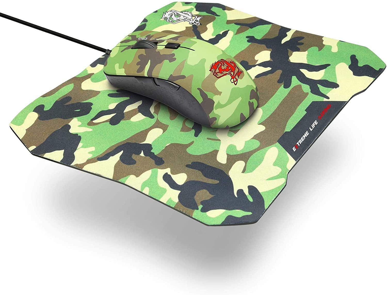 Combo Gamer ELG 2 em 1 Mouse 6 Botões 3.200dpi - Led 7 Cores + Mouse Pad Sense Control 3mm Army CGMMAY