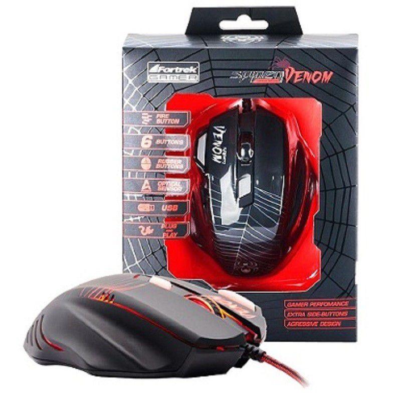 Combo Kit Gamer Spider Venom 2 Teclado GK-705 + Mouse Spider Venom OM-704  + Headset Spider Tarantula SHS-702 Fortrek