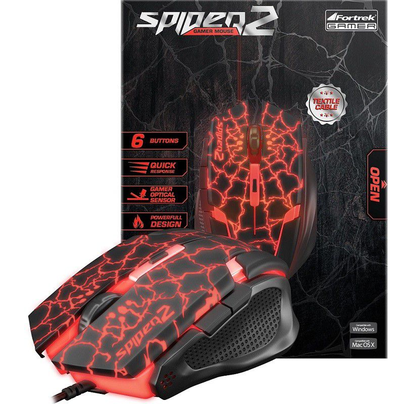 Combo Teclado Gamer Multimídia Spider Venom 2 Gk-705 e Mouse Gamer USB Spider 2 OM-705 Fortrek