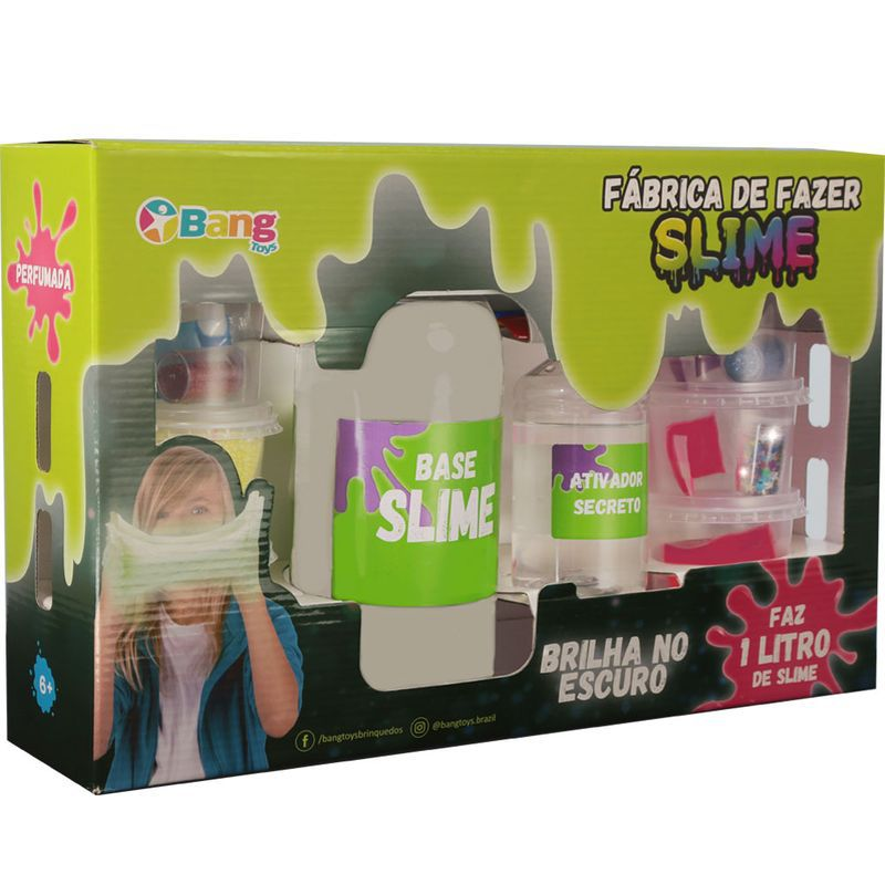 Conjunto de Slime - Fábrica de Slime Clear Slime Brilha no Escuro 1 Kg Winner