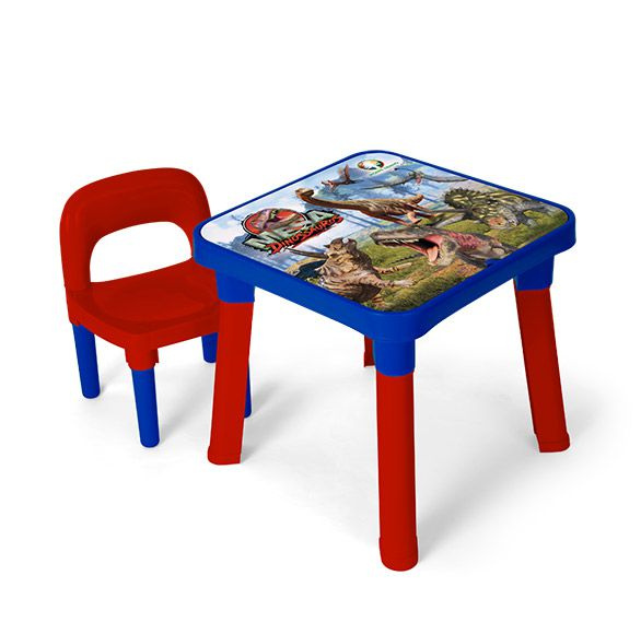 Conjunto Infantil Mesa Com Cadeira Dinossauro 83790 Fun