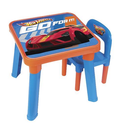 Conjunto Infantil Mesa Com Cadeira Hot Wheels 69270 Fun