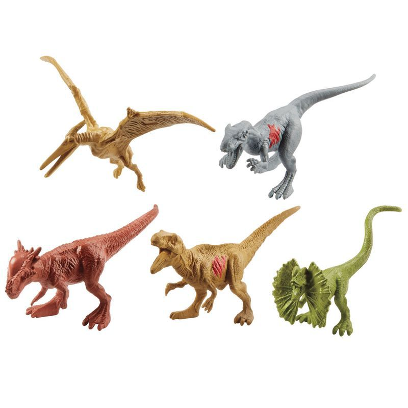 Conjunto Jurassic World 2 Pacote com 15 Mini Dinossauros FPX90 Mattel