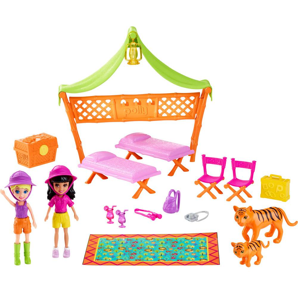 Conjunto Polly Pocket Aventura na Selva DJB25 Mattel