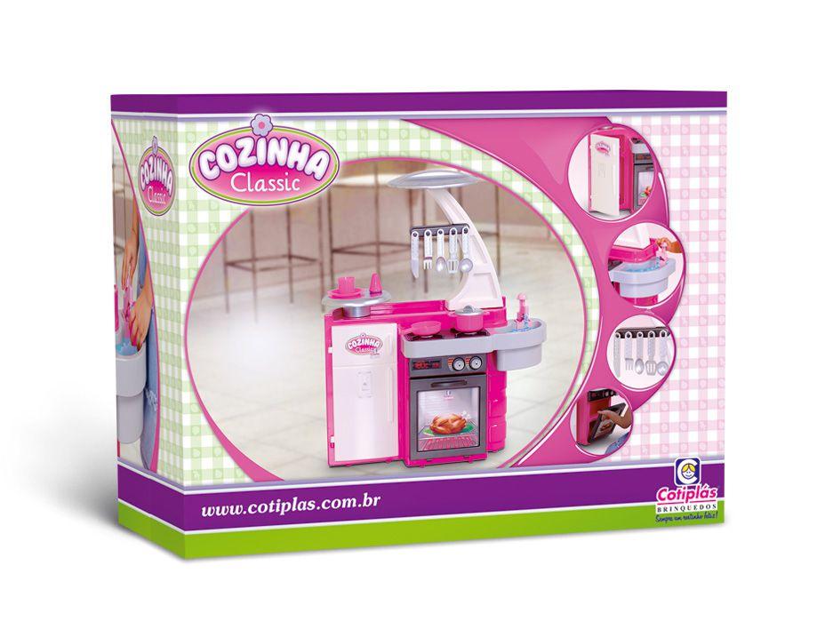 Cozinha Classic Infantil C/ Fogão, Pia, Armário Cotiplás Ref. 1601