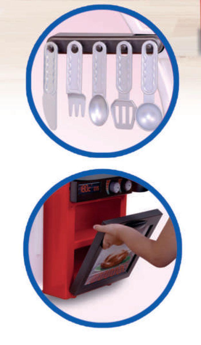 Cozinha Classic Infantil Para Menino com Armário Pia Fogão Geladeira Completa 2437 Cotiplás