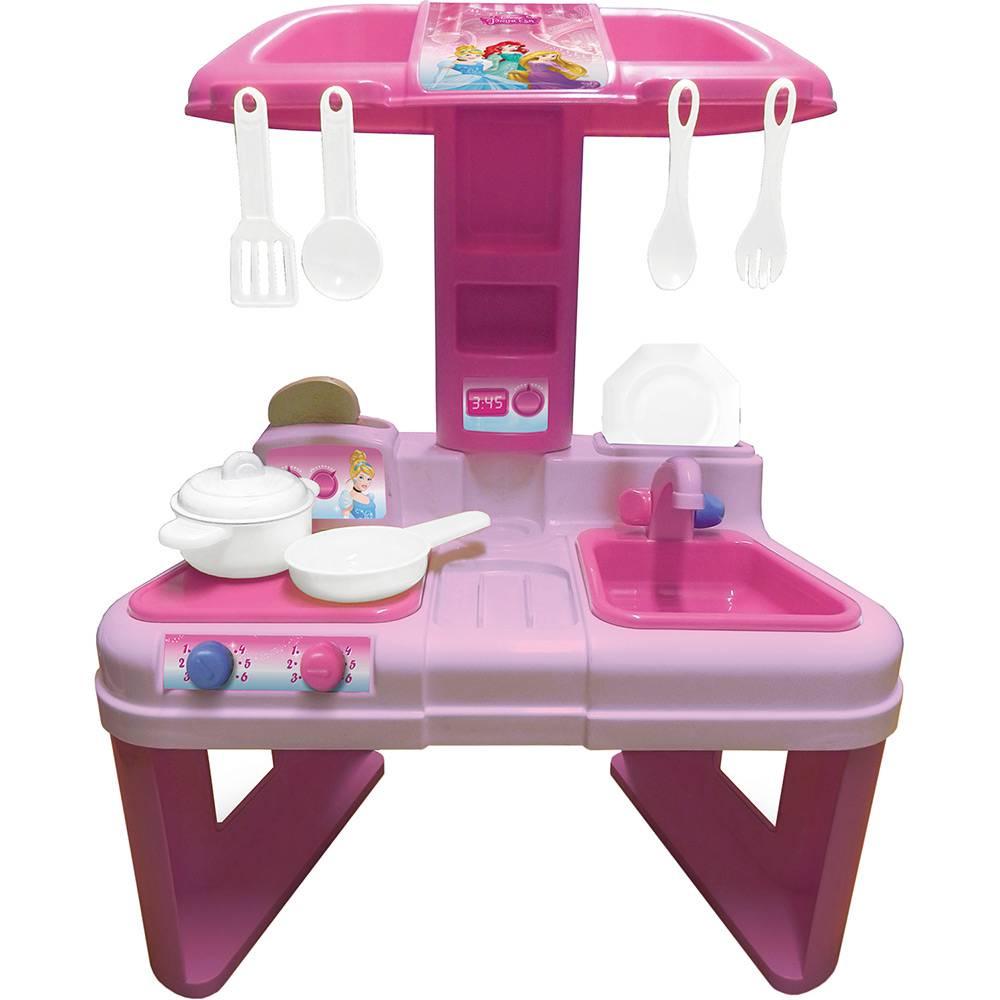 Cozinha Infantil Casinha Flor Pop Rosa e Branca Ref. 19343 Xalingo