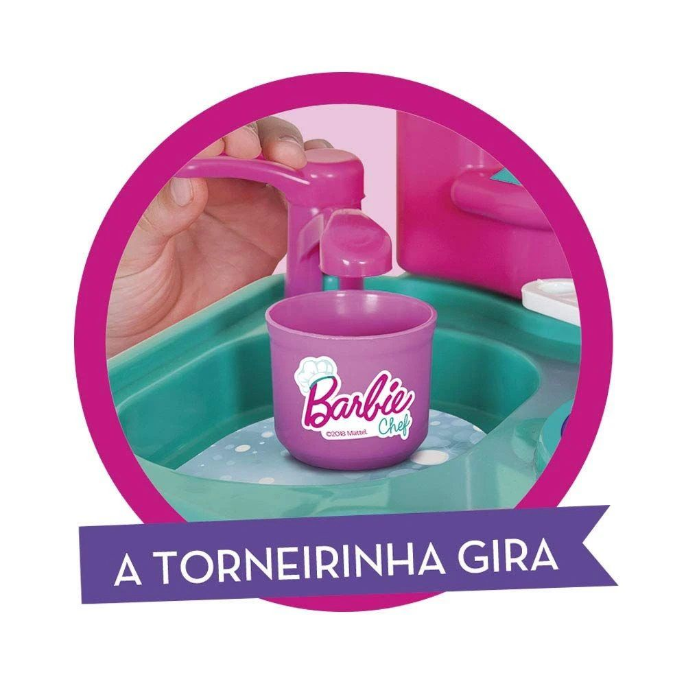 Cozinha Infantil da Barbie com Acessórios 2228 Cotiplás