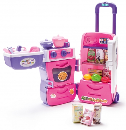 Cozinha Infantil Móvel Mobility Chef com Acessórios 0304 Calesita