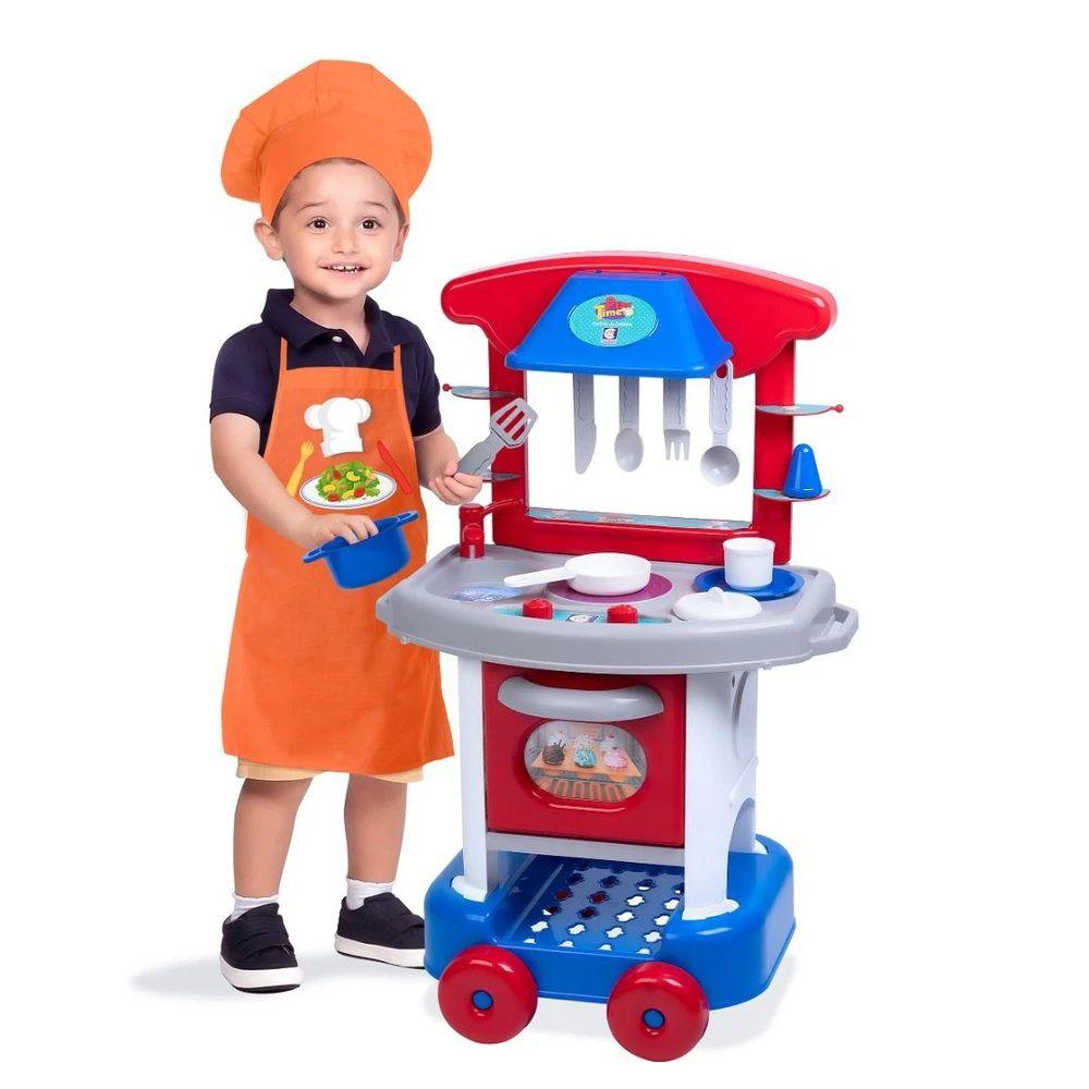 Cozinha Infantil Play Time Menino com Acessórios 2421 Cotiplás