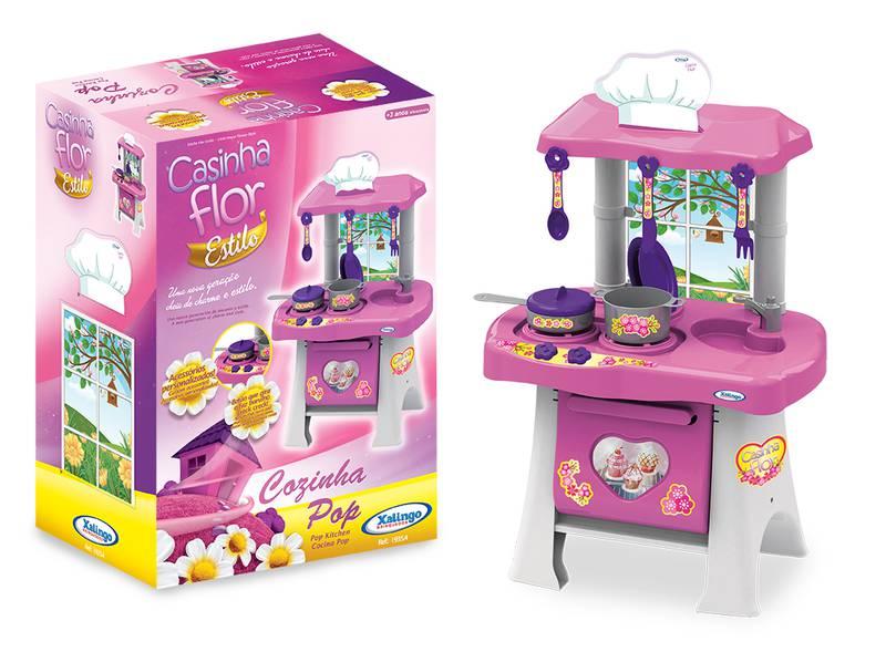 Cozinha Infantil Pop Casinha Flor Rosa Ref. 0454.3 Xalingo