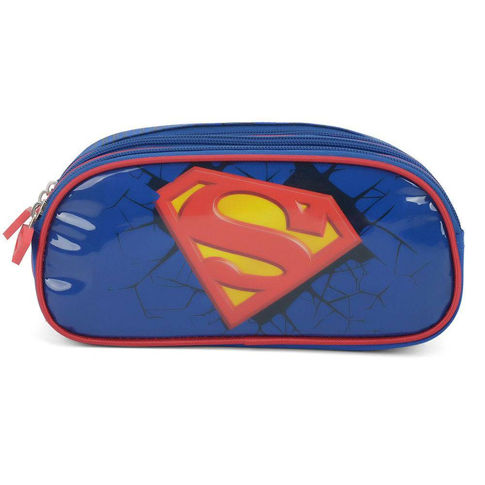 Estojo Superman Azul EI32894SM Luxcel
