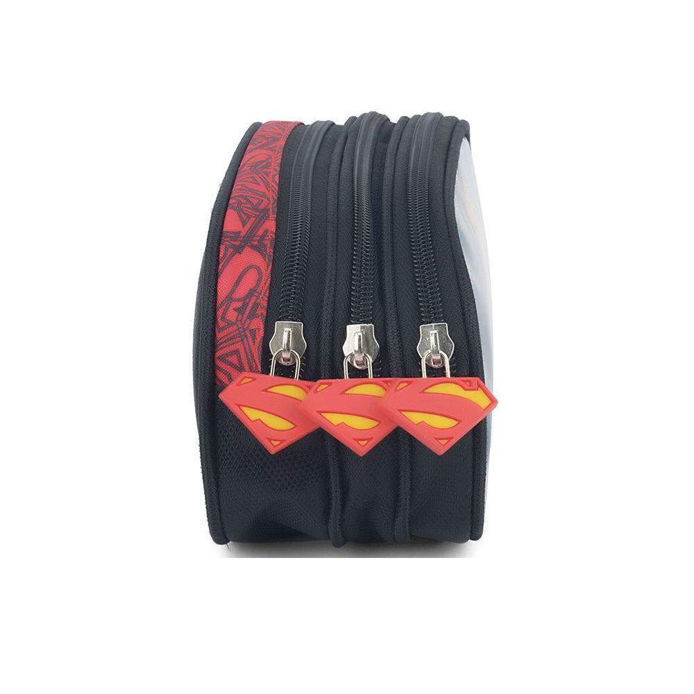 Estojo Superman Preto EI32894SM Luxcel