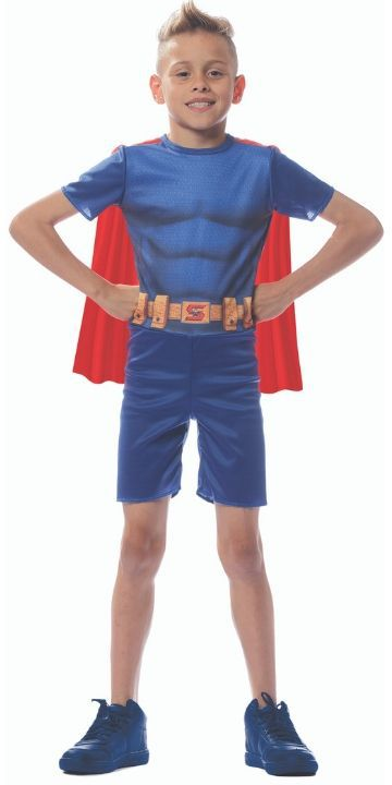 dbb3fb9521777c Fantasia Super Homem Superman Infantil Curto - RPN STORE