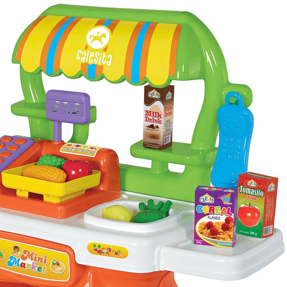 Feirinha Mini Market com Acessórios Calesita Ref. 313