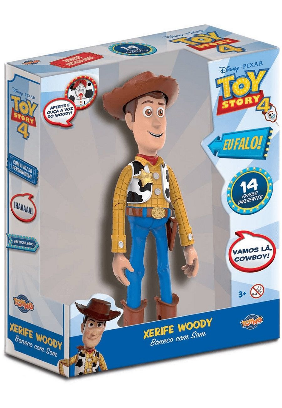 Figura Articulada 30 Cm Disney Toy Story 4 Woody Com Frases 38191 Toyng