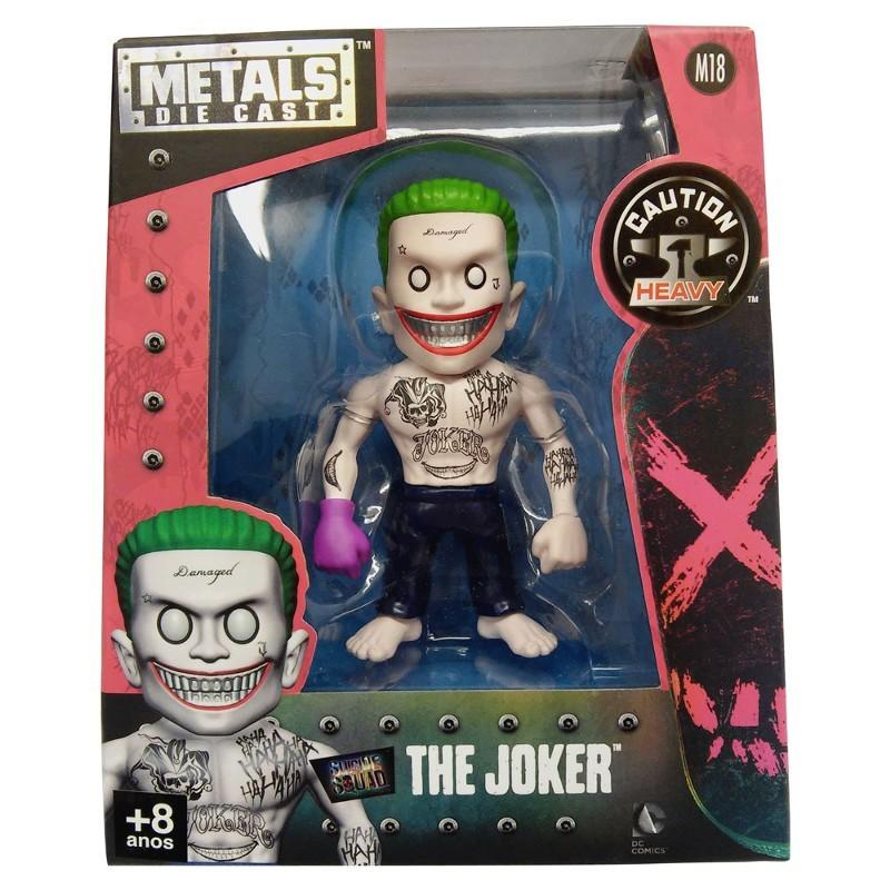 Figura Colecionável 10 Cm Metals DC Comics Suicide Squad - The Joker - Coringa com Luva 3874 DTC