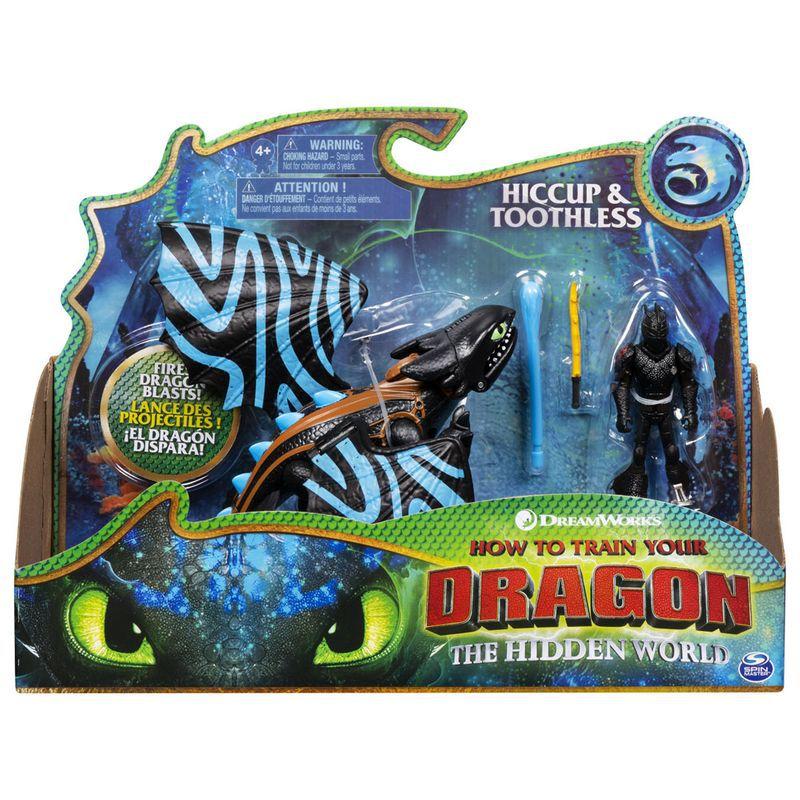 Figura e Acessórios - Como Treinar Seu Dragão - Hiccup e Toothless 1452 Sunny