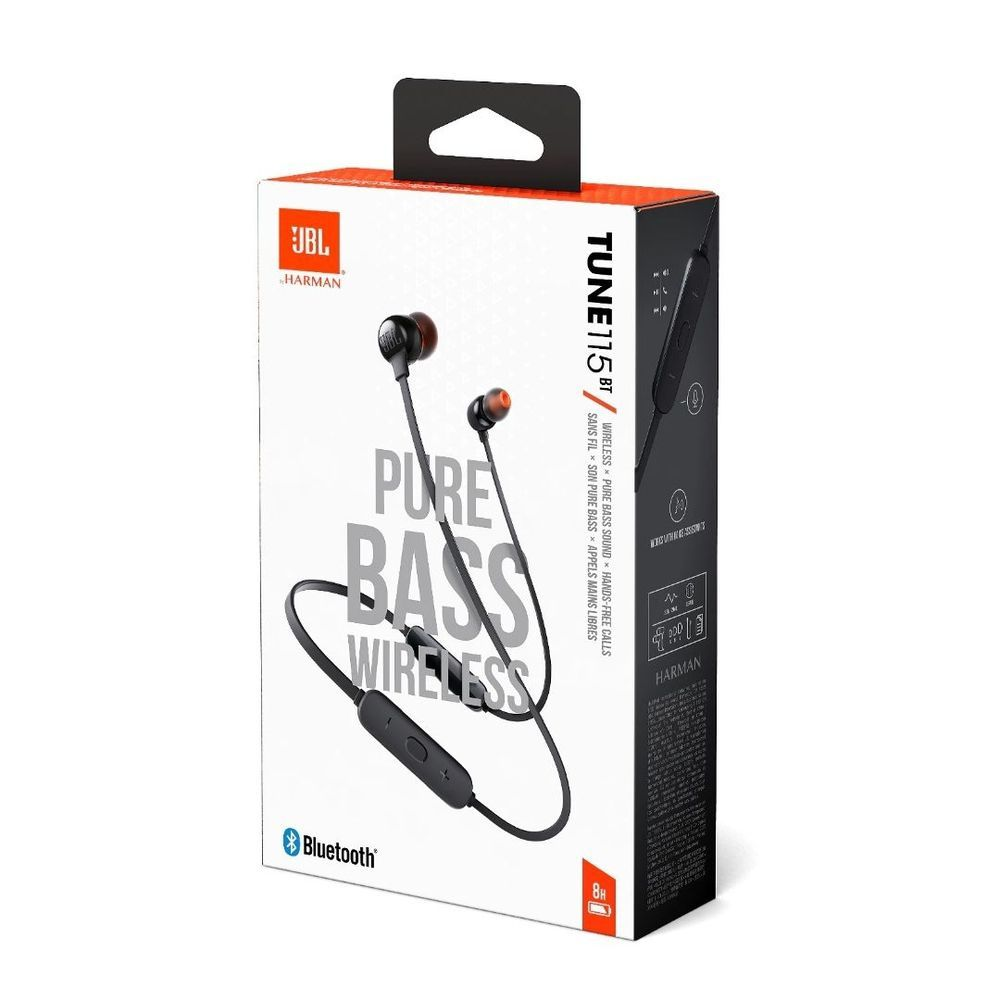 Fone de Ouvido JBL Tune 115BT Bluetooth Preto