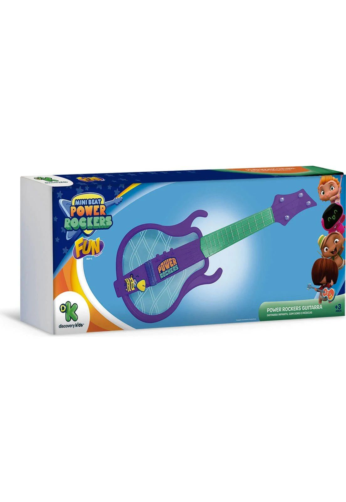 Guitarra Infantil Musical Iluminada Power Rockers 84272 Fun