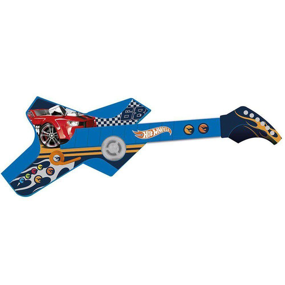 Guitarra Infantil Radical Touch Hot Wheels Azul 80073 Fun