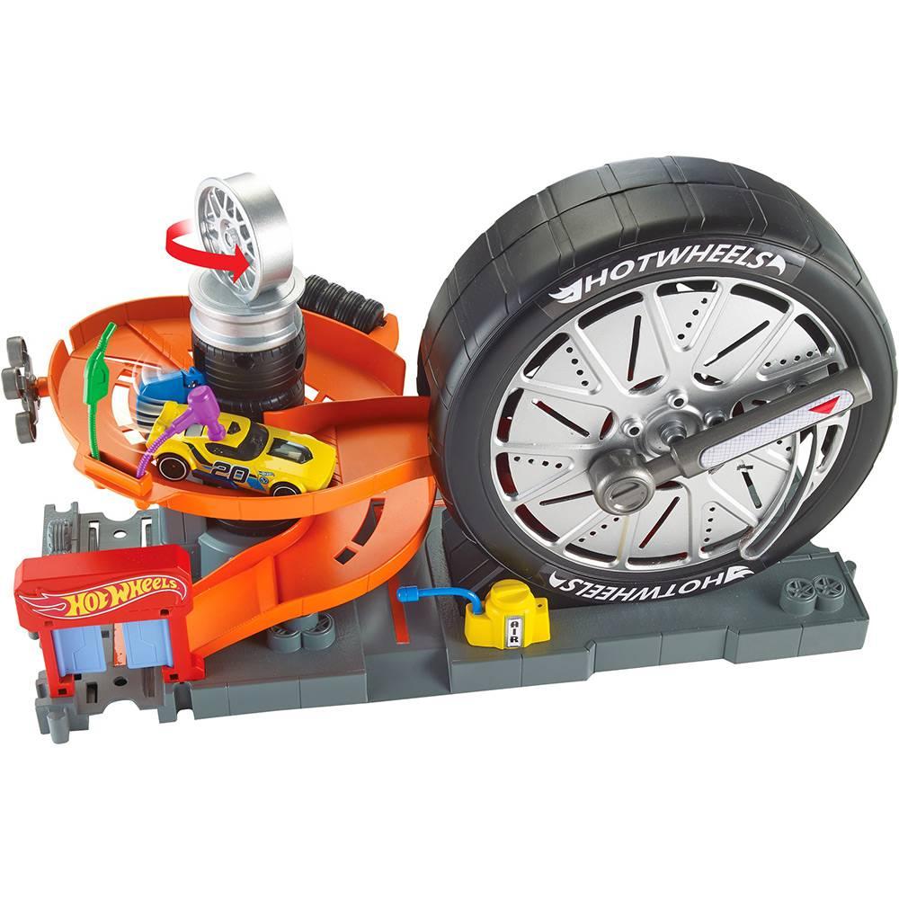 Hot Wheels Pista Borracharia Super Giro City Mattel FNB15-944A