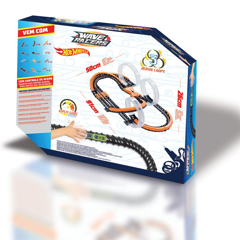 Hot Wheels Pista Wave Racers Triple Skyloop Fun Divirta-se