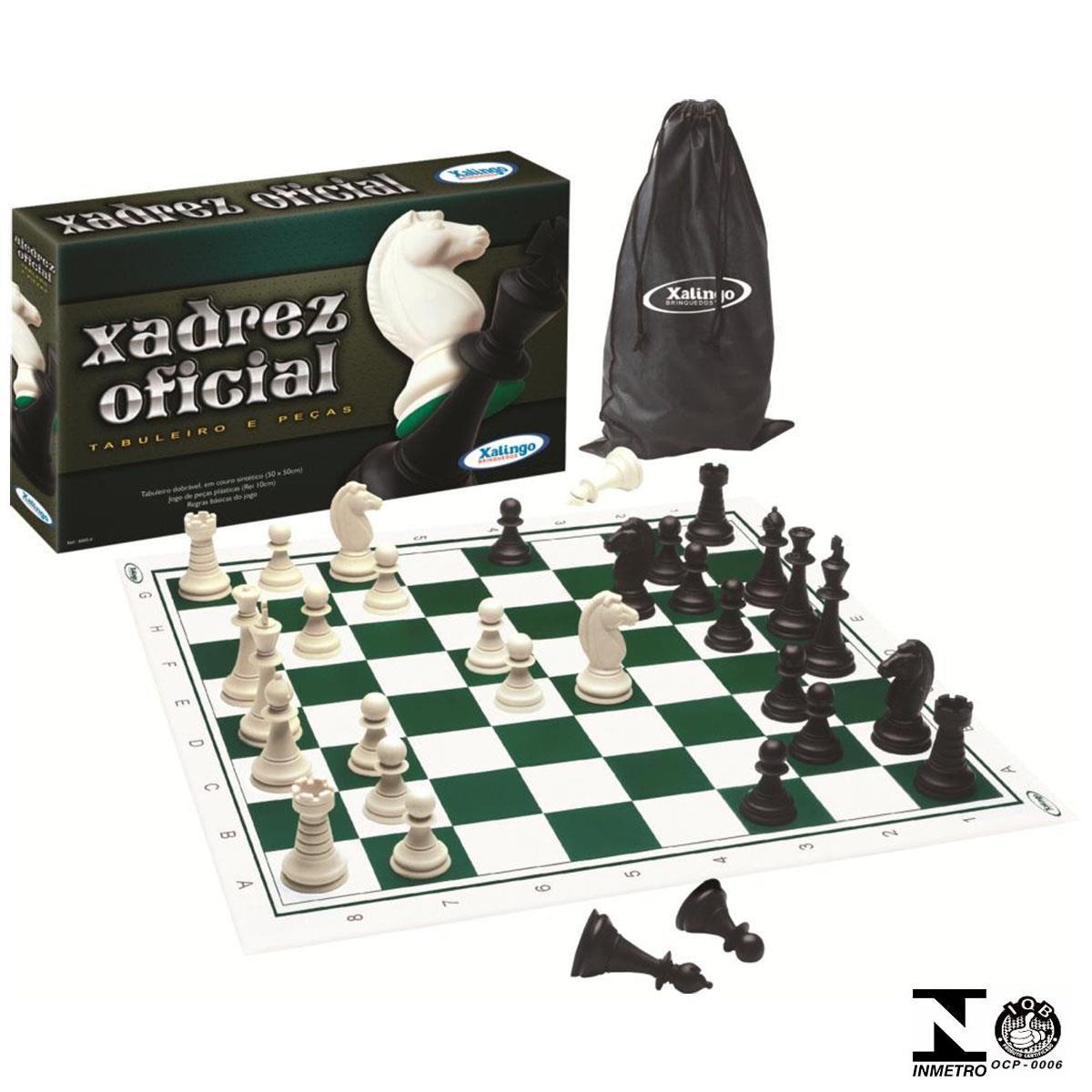 Jogo de Xadrez Oficial Tabuleiro e Peças Ref. 60054 Xalingo