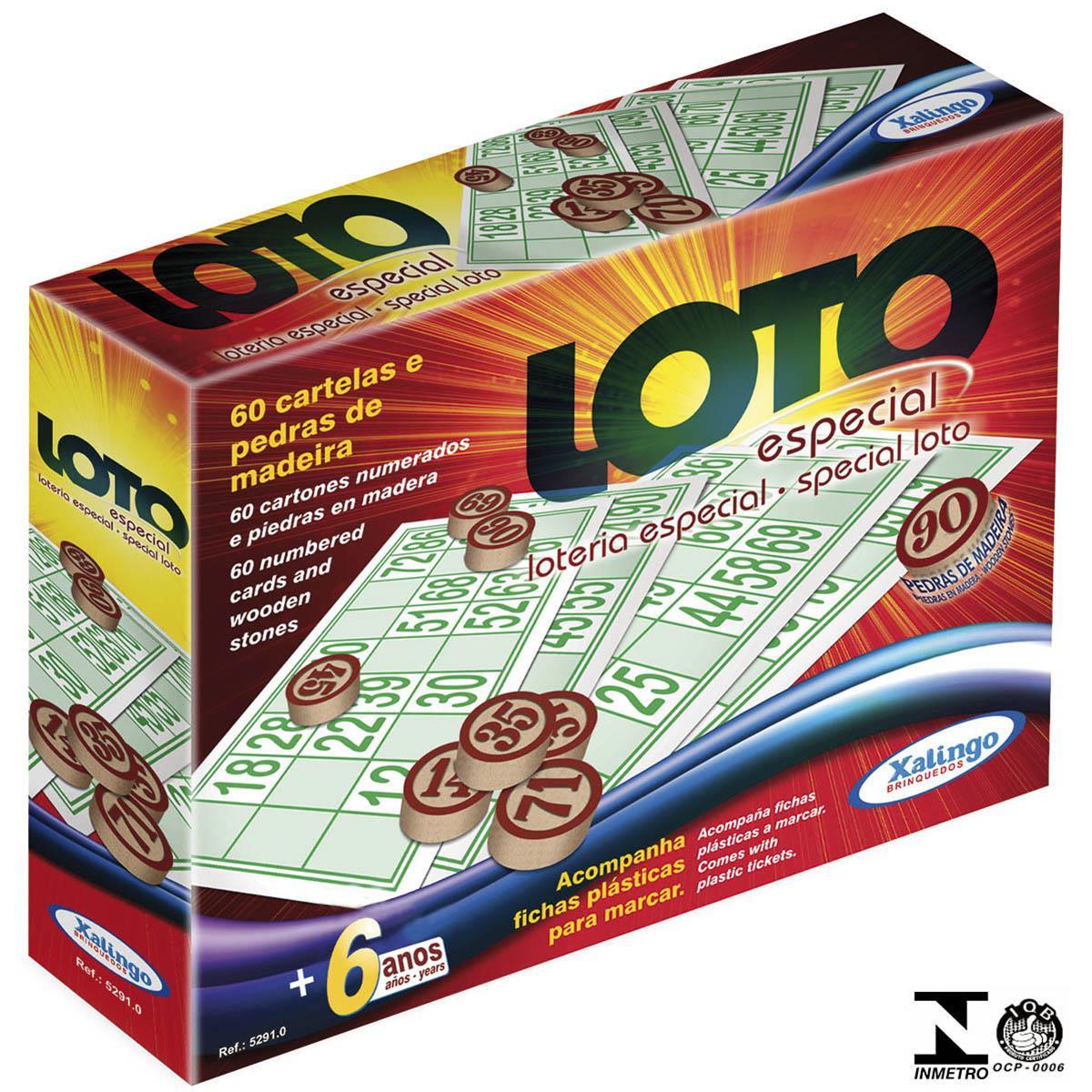 Jogo Loto Especial 60 Cartões Ref. 52910 Xalingo