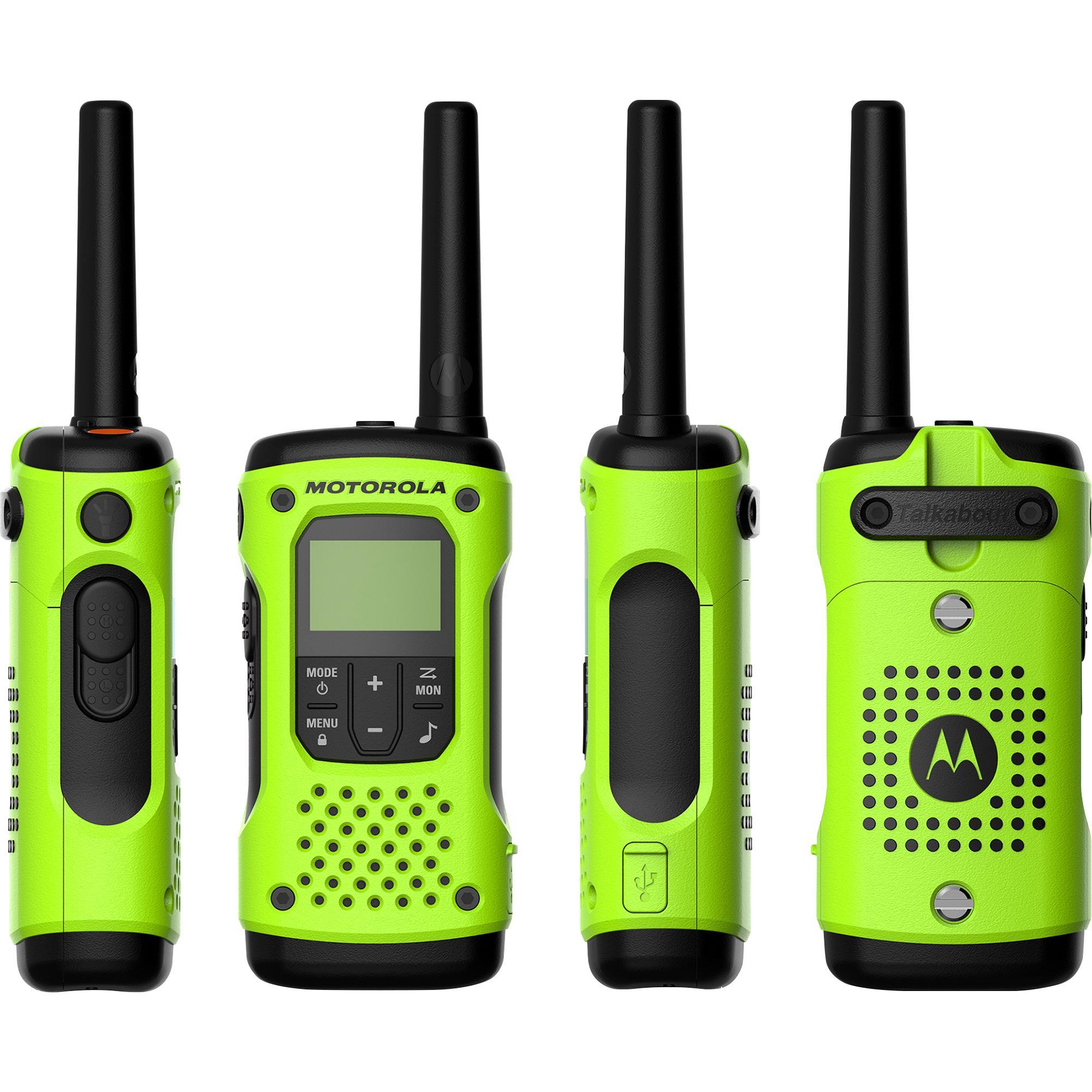 Kit 2 Pares Radio Comunicador 35KM Talkabout T600BR Motorola