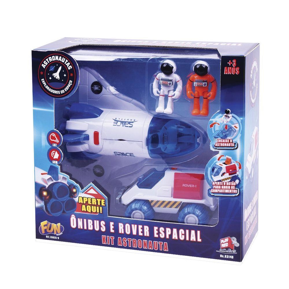 Kit Astronautas Estação e Capsula Espacial Infantil Fun Divirta-se