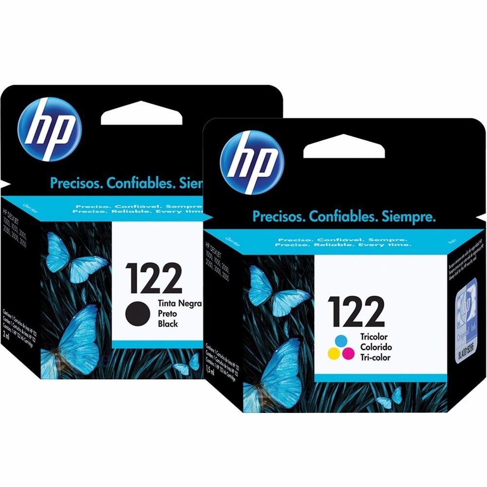 Kit de Cartuchos de Tinta HP Suprimentos CH561HB HP 122 Preto 2ml + CH562HB HP 122 Tricolor 2ml