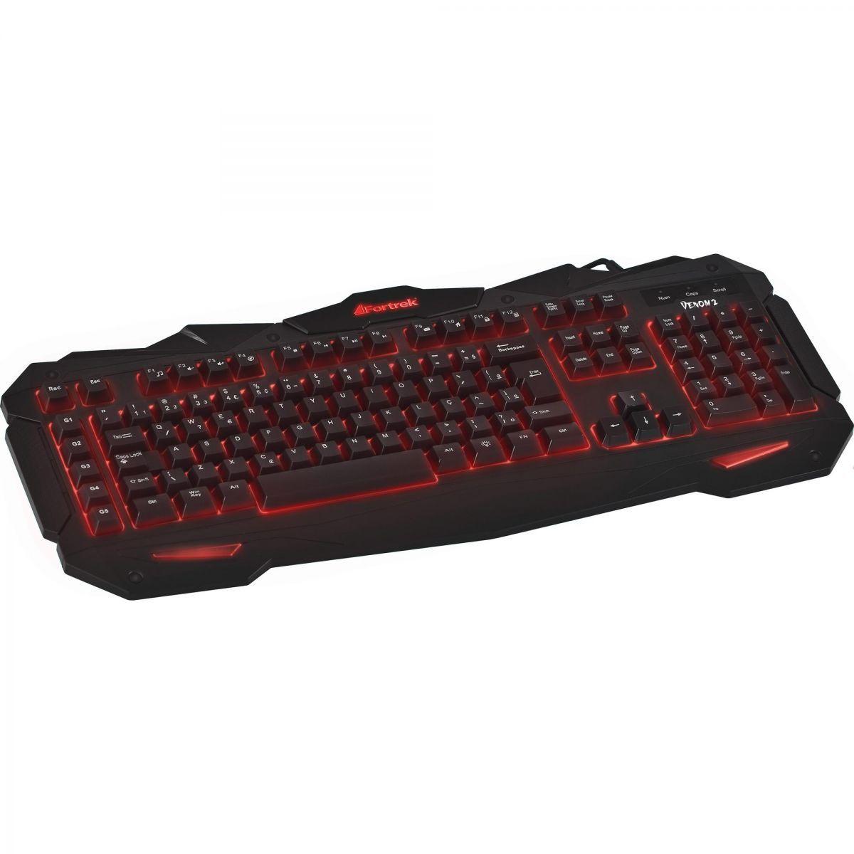 Kit Gamer C/ Teclado Iluminado GK705 + Mouse OM705+ Headset Spider SHS701 Fortrek