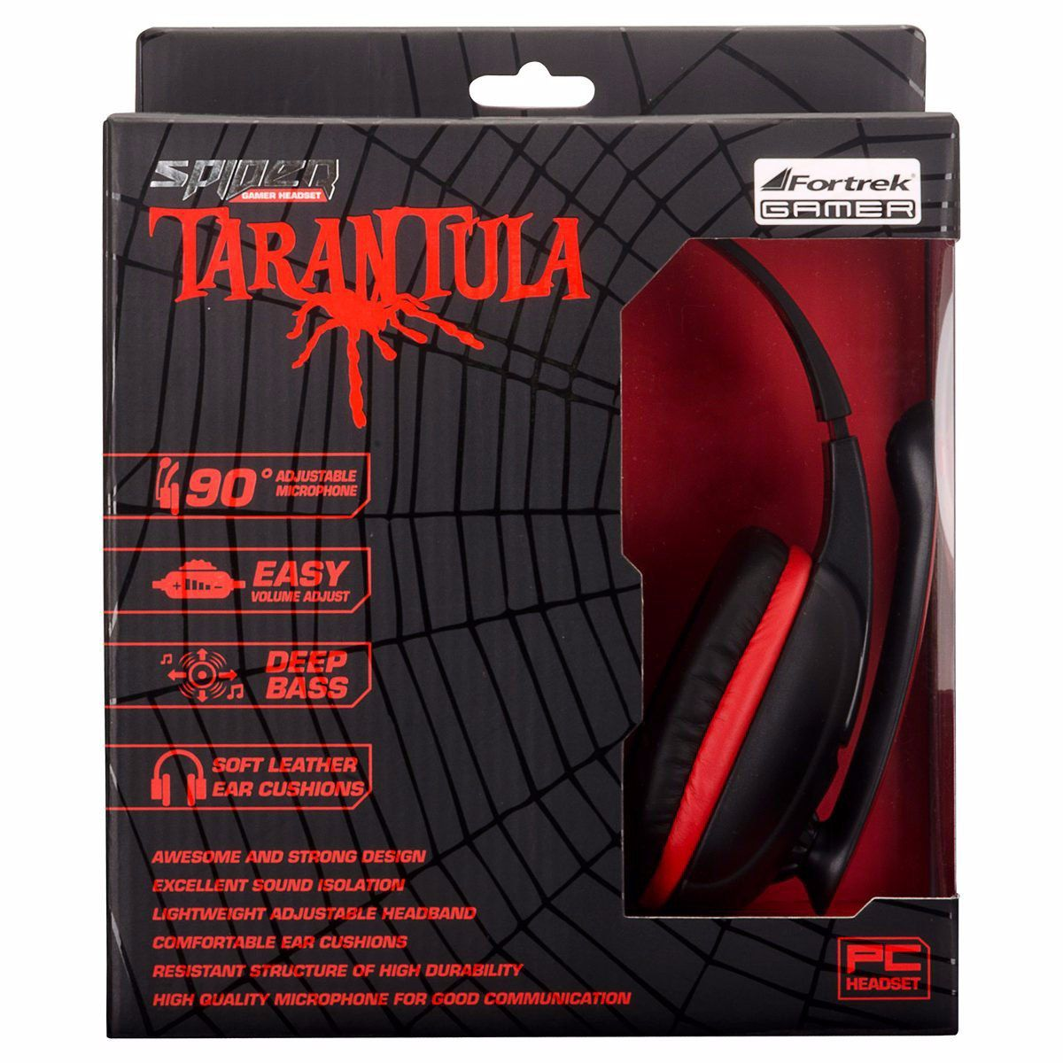 Kit Gamer Spider Tarantula  Mouse OM702 PT e Headset SHS702 Fortrek