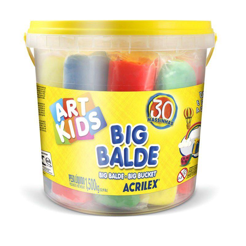 Kit Massinha Big Balde Acrilex
