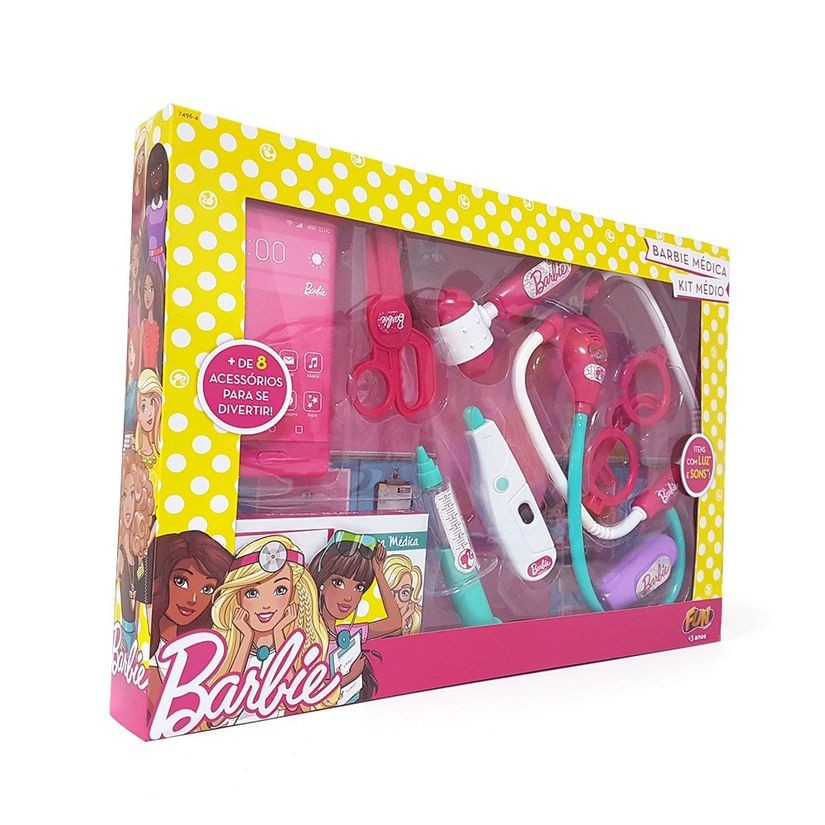 Kit Médica Médio Barbie F00160 Fun