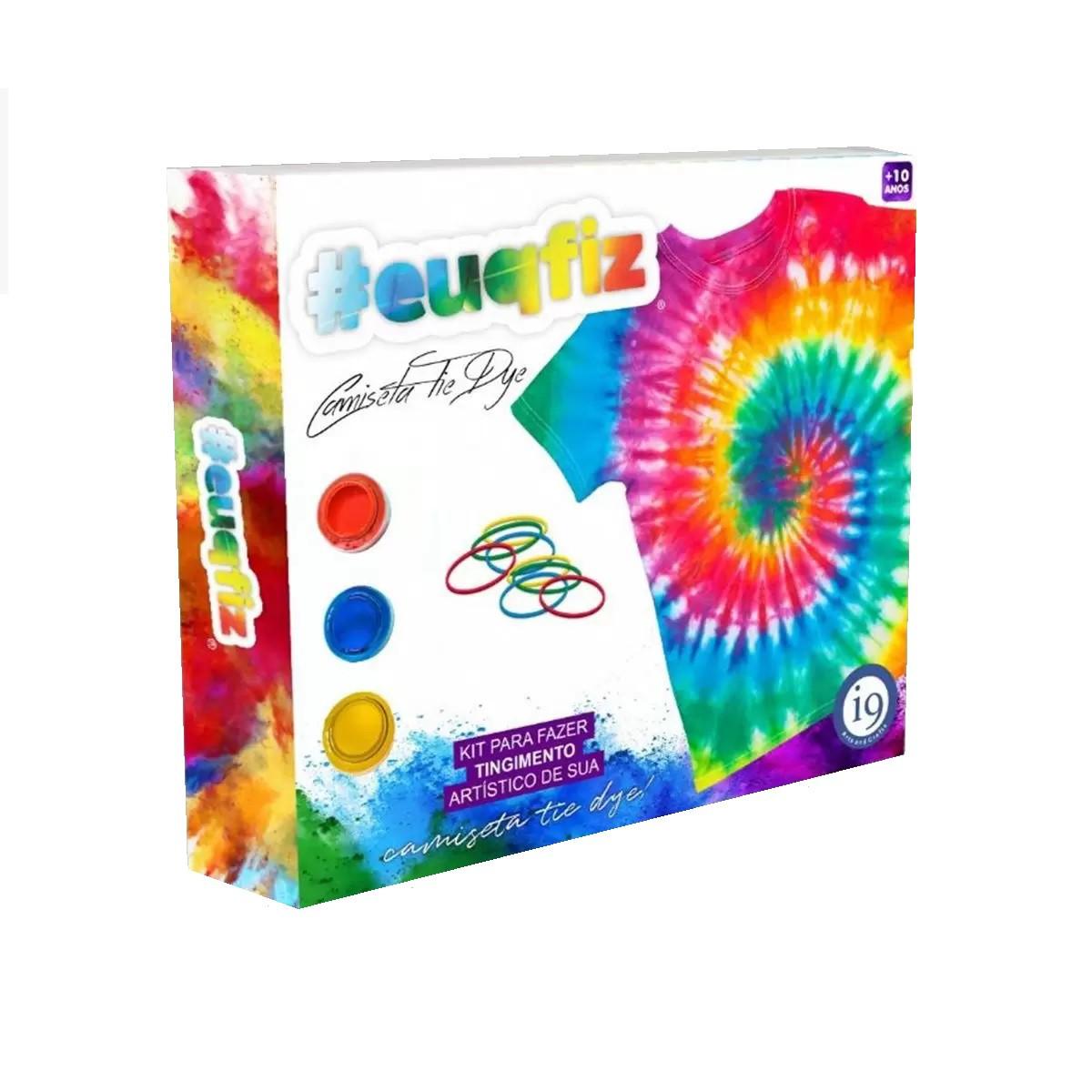 Kit Para Fazer Camiseta Infantil Tie Dye #EUQFIZ I9 Brinquedos 6 M