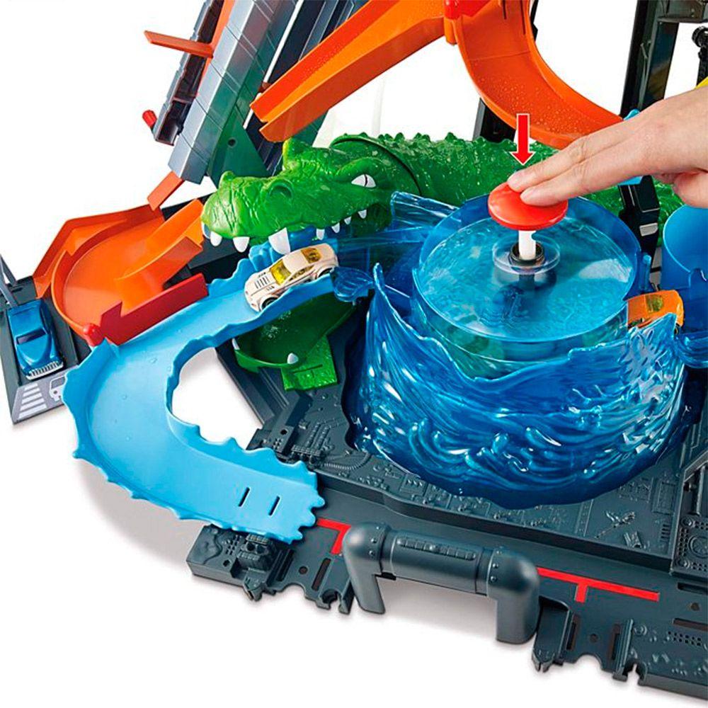 Lava Rápido Hot Wheels Ataque do Jacaré FTB67 Mattel